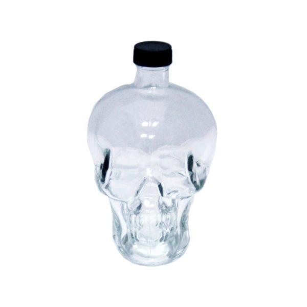 "Бутылка стеклянная 0,74 ""Череп"" Прозрачная"